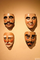 cereminila masks in the Museo de Arte Popular or Museum of Popular Art in San Salvador, El Salvador