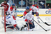 Mike McMurtry (NU - 7), Doug Carr (UML - 31), Derek Arnold (UML - 29), Gregory Amlong (UML - 22), Ryan McGrath (UML - 10) - The Northeastern University Huskies defeated the University of Massachusetts Lowell River Hawks 4-1 (EN) on Saturday, January 11, 2014, at Fenway Park in Boston, Massachusetts.
