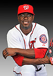 25 February 2011: Washington Nationals' outfielder Roger Bernadina poses for his Photo Day portrait at Space Coast Stadium in Viera, Florida. Mandatory Credit: Ed Wolfstein Photo