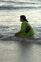 Mumbai, afternoon on the beach, every afternoon at around sunset, the people from Mumbai go to the beach to escape the city, some will bath in the ocean, area near Bollywood, Mumbai, India