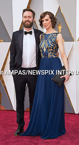 28.02.2016; Hollywood, California: 88th OSCARS - BENJAMIN CLEARY and CHLOE PIRRIE<br /> attend the 88th Annual Academy Awards at the Dolby Theatre&reg; at Hollywood &amp; Highland Center&reg;, Los Angeles.<br /> Mandatory Photo Credit: &copy;Ampas/Newspix International<br /> <br /> PHOTO CREDIT MANDATORY!!: NEWSPIX INTERNATIONAL(Failure to credit will incur a surcharge of 100% of reproduction fees)<br /> <br /> IMMEDIATE CONFIRMATION OF USAGE REQUIRED:<br /> Newspix International, 31 Chinnery Hill, Bishop's Stortford, ENGLAND CM23 3PS<br /> Tel:+441279 324672  ; Fax: +441279656877<br /> Mobile:  0777568 1153<br /> e-mail: info@newspixinternational.co.uk<br /> All Fees To: Newspix International