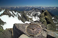 Silvretta Mountains, Ischgl, Austria, July 2004. Reaching the summit of the Dreilaenderspitze. Trekking from hut to hut in the Silvretta is a strenuous adventure, Many high alpine tours are possible, as long as you have experience in crossing glaciers and basic rock climbing. If you don't have experience and you are not afraid of heights most peaks can be climbed with local mountain guides. Photo by Frits Meyst/Adventure4ever.com