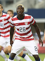 Eddie Johnson #26 of the USMNT reacts during the match against Honduras on July 24, 2013 at Dallas Cowboys Stadium in Arlington, TX. USMNT won 3-1.