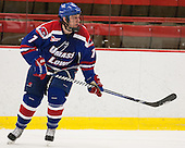 Shayne Thompson (UML - 7) - The visiting University of Massachusetts Lowell River Hawks defeated the Harvard University Crimson 5-0 on Monday, December 10, 2012, at Bright Hockey Center in Cambridge, Massachusetts.