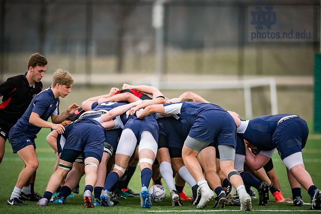 March 25, 2017; Men's Rugby club (Photo by Matt Cashore/University of Notre Dame)