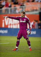 Dan Kennedy (1) of Chivas USA yells to his team during the game at RFK Stadium in Washington, DC.  D.C. United defeated Chivas USA, 1-0.
