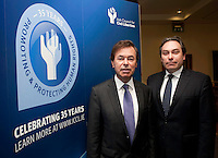 "**** NO FEE PIC***.12/04/2012 .(L to R).Alan Shatter TD, Minister for Justice, Equality and Defence,.ICCL Director Mark Kelly.during a conference on the ""The EU Directive on Victims Rights: Opportunities and Challenges for Ireland"" hosted by the the Irish Council for Civil Liberties (ICCL) in Dublin Castle..Photo: Gareth Chaney Collins"