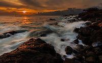 Wild untouched coastline near Mahukona on the Big Island of Hawai'i.