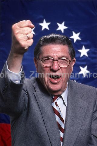 Anti-tax activist Howard Jarvis, 1978. Photo by John G. Zimmerman.