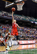 Emili Tasler makes a layup in the second half. NC State defeated Duke 75-73 during quarter finals of the 2012 ACC Women's Basketball Tournament at the Greensboro Coliseum in Greensboro, NC. Photo by Al Drago.