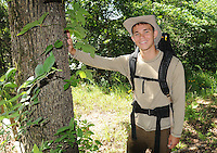 NWA Democrat-Gazette/FLIP PUTTHOFF<br /> Marek Stanley, 17, of Rogers did a solo backpack trip on the Ozark Highlands Trail, covering 165 miles from Lake Fort Smith State Park to Woolum in early June. Marek is shown here  June 25 2015 at the Ozark Natural Science Center, where he is a camp counselor.