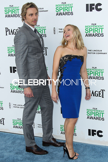 SANTA MONICA, CA, USA - MARCH 01: Dax Shepard, Kristen Bell at the 2014 Film Independent Spirit Awards held at Santa Monica Beach on March 1, 2014 in Santa Monica, California, United States. (Photo by Xavier Collin/Celebrity Monitor)