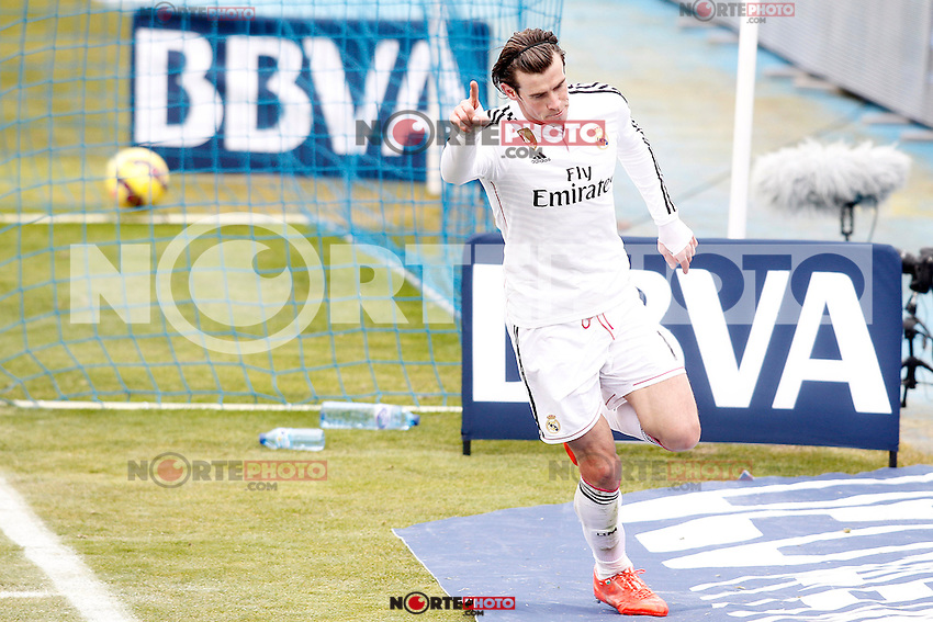 Real Madrid's Garet Bale celebrates goal during La Liga match.January 18,2013. (ALTERPHOTOS/Acero) /NortePhoto<br />