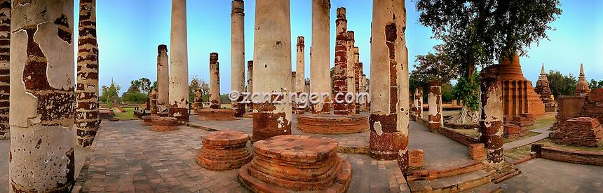 Thailand, Pillars, Ruins CGI Backgrounds, ,Beautiful Background