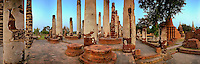 Thailand, Pillars, Ruins CGI Backgrounds, ,Beautiful Background