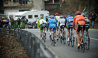 Milan-San Remo 2012.raceday.lead group going up the Passo del Turchino