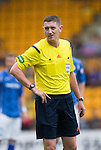 St Johnstone v Motherwell...22.08.15  SPFL   McDiarmid Park, Perth<br /> Referee Craig Thomson<br /> Picture by Graeme Hart.<br /> Copyright Perthshire Picture Agency<br /> Tel: 01738 623350  Mobile: 07990 594431