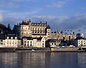 AA00397-01...FRANCE - Chateau Amboise viewed from the north bank of the Loire River.