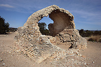 Water Reservoir; Villa of El Munts; I Century AD, Tarragona (Tarraco, Hispania Citerior), Catalonia, Spain; one of the largest built on a hill overlooking the coast, only 12 km from Tarragona (Tarraco).