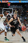 01 APRIL 2012:  Guard Toni Kokenis of Stanford University (31) dribbles up court against Baylor University during the Division I Women's Final Four Semifinals at the Pepsi Center in Denver, CO.  Baylor defeated Stanford 59-47 to advance to the championship final.  Jamie Schwaberow/NCAA Photos