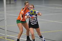 KORFBAL: HEERENVEEN: Blauw-Withal, 23-11-2013, Overgangsklasse A, KV Heerenveen - SDO/VerzuimVitaal, Eindstand 15-26, Kirsten Welling (Heerenveen), ©foto Martin de Jong