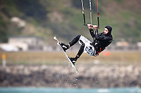kiteboarding at Lyall Bay, Wellington, New Zealand