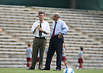 1 September 2007: North Carolina head coach Anson Dorrance (l) with assistant coach Bill Palladino (r). The University of South Carolina Gamecocks defeated the University of North Carolina Tar Heels 1-0 at Fetzer Field in Chapel Hill, North Carolina in an NCAA Division I Womens Soccer game.