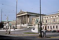 Vienna: The Ringstrasse--Parliament. Theophil Hansen, architect, 1873-1883. Photo '87.