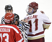 Garrett Noonan (BU - 13), Bob Bernard, Chris Low, Pat Mullane (BC - 11) - The Boston College Eagles defeated the visiting Boston University Terriers 5-2 on Saturday, December 4, 2010, at Conte Forum in Chestnut Hill, Massachusetts.