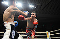 (L-R) Hiroyuki Hisataka (JPN), Hugo Cazares (MEX), DECEMBER 23, 2010 - Boxing : Hugo Fidel Cazares of Mexico in action against Hiroyuki Hisataka of Japan during the 11th round of the WBA super flyweight title bout at Osaka Prefectural Gymnasium in Osaka, Osaka, Japan. (Photo by Mikio Nakai/AFLO)