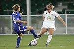 7 November 2007: Wake Forest's Sarah Winslow (12) takes a shot against Duke's Jane Alukonis (5). Wake Forest University defeated Duke University 1-0 in overtime at the Disney Wide World of Sports complex in Orlando, FL in an Atlantic Coast Conference tournament quarterfinal match.