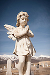 Angel statue, Paradise Valley Cemetery, Nev.