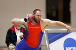 NAPERVILLE, IL - MARCH 11: Kyle Whaley of UW-Platteville competes in the shot put at the Division III Men's and Women's Indoor Track and Field Championship held at the Res/Rec Center on the North Central College campus on March 11, 2017 in Naperville, Illinois. (Photo by Steve Woltmann/NCAA Photos via Getty Images)
