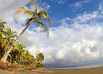Deserted beach in Costa Rica