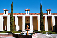 Michael Graves: San Juan Capistrano Library. Elevation, East Side of Interior Court.  Photo '86.