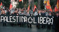 Roma  Piazza San Marco.Manifestazione per la Palestina .Donne in Nero con uno striscione  dove è scritto: Palestina Libera..Rome, Piazza San Marco.Demonstration for Palestine Women in Black .The banner reads: Free Palestine.