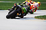 Photo by Nic Coury of Yamaha Tech 3 rider Andrea Dovizioso at the 2012 Red Bull Indianapolis Moto Grand Prix at Indianapolis Motor Speedway in Indiana.