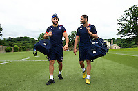 Guy Mercer and Jeff Williams of Bath Rugby look on during a Bath Rugby photoshoot on June 21, 2016 at Farleigh House in Bath, England. Photo by: Patrick Khachfe / Onside Images