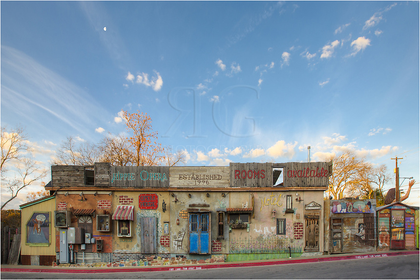 "From the local Austin, Texas, Taco House, this mural shows the ""Hippie Opera."" Opportunities like this are plentiful for photographers and picture making in the SoCo area. You just need to get out and make your way around."