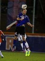 The number 24 ranked Furman Paladins took on the number 20 ranked Clemson Tigers in an inter-conference game at Clemson's Riggs Field.  Furman defeated Clemson 2-1.  Tyler Peoples (15)