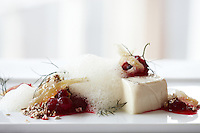 Panna Cotta with Cranberries and Fennel