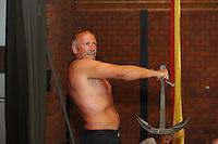 ALGEMEEN: STAVOREN: SKS bemanningen Ankertillen, Hans Meetsma bemanningslid van het Jouster Skûtsje, ©foto Martin de Jong