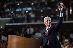 Former President Bill Clinton arrives on stage to speak at the Democratic National Convention on Wednesday, September 5, 2012 in Charlotte, NC.