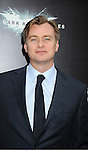 "Christopher Nolan attends the world premiere of ""The Dark Knight Rises"" on .July 16, 2012 at The AMC Lincoln Square Imax Theatre in New York City. The movie stars Christian Bale, Gary Oldman, Anne Hathaway, Tom Hardy, Marion Cotillard, Joseph Gordon-Levitt and Morgan Freeman."