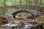 Stone bridge over Hadlock Stream in Acadia National Park, Maine, USA