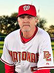 28 February 2010: Washington Nationals first base coach Dan Radison poses for his Spring Training photo at Space Coast Stadium in Viera, Florida. Mandatory Credit: Ed Wolfstein Photo