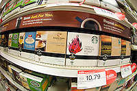 A selection Keurig coffee pods from various brands in the grocery department in a Target store in Elmhurst in the New York borough of Queens during the Thanksgiving weekend, on Saturday, November 26, 2011. (© Richard B. Levine)