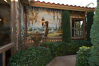 Mural on exterior wall of home