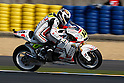 May 22, 2010 - Le Mans, France - French rider Randy De Puniet powers his bike during a free practice prior the French Grand Prix on May 22, 2010. (Photo Andrew Northcott/Nippon News).