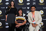 Ottawa, ON – Nov 27 2015 –Chantal Petitclerc poses for a photo with friends at the Canadian Paralympic Hall of Fame in Ottawa, Ontario Nov 27, 2015. Photo Andre Forget / Canadian Paralympic Committee